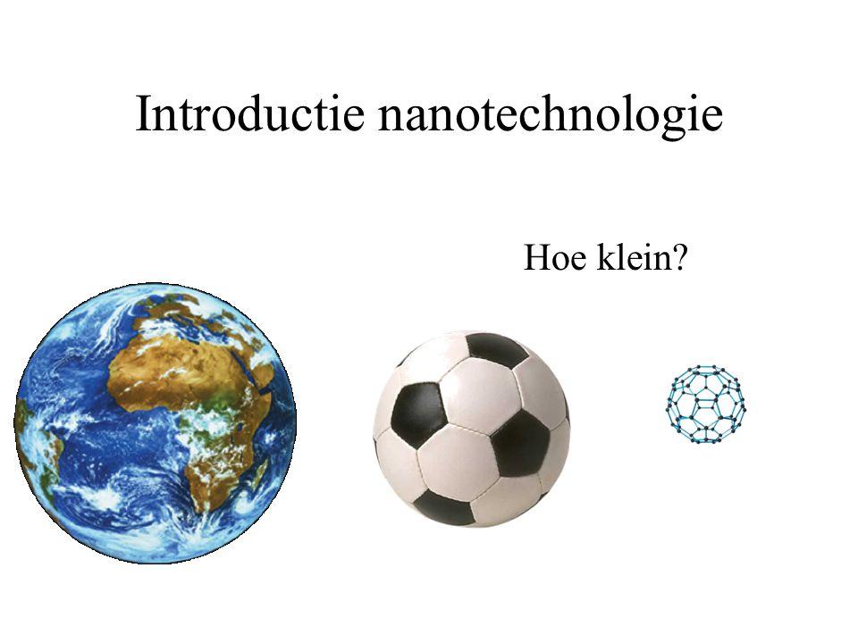 Introductie nanotechnologie Hoe klein?