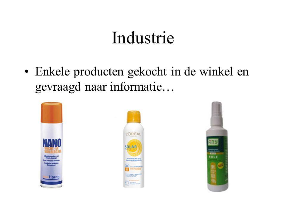 Industrie Enkele producten gekocht in de winkel en gevraagd naar informatie…