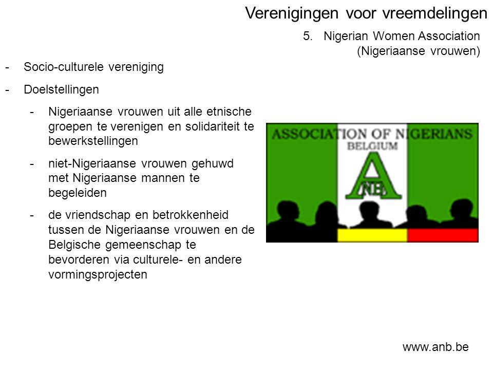 Verenigingen voor vreemdelingen 5.