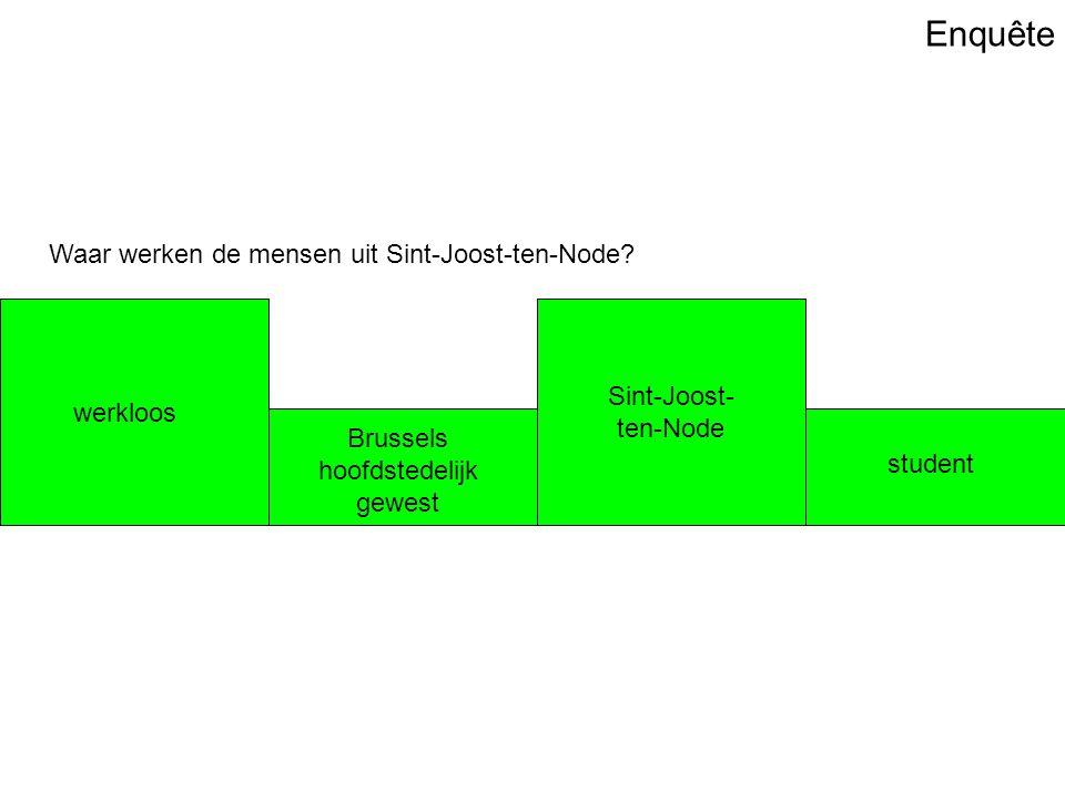 Enquête Waar werken de mensen uit Sint-Joost-ten-Node.