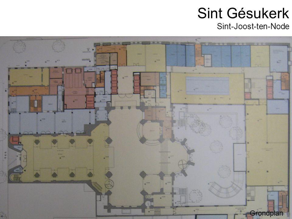 Sint Gésukerk Grondplan Sint-Joost-ten-Node