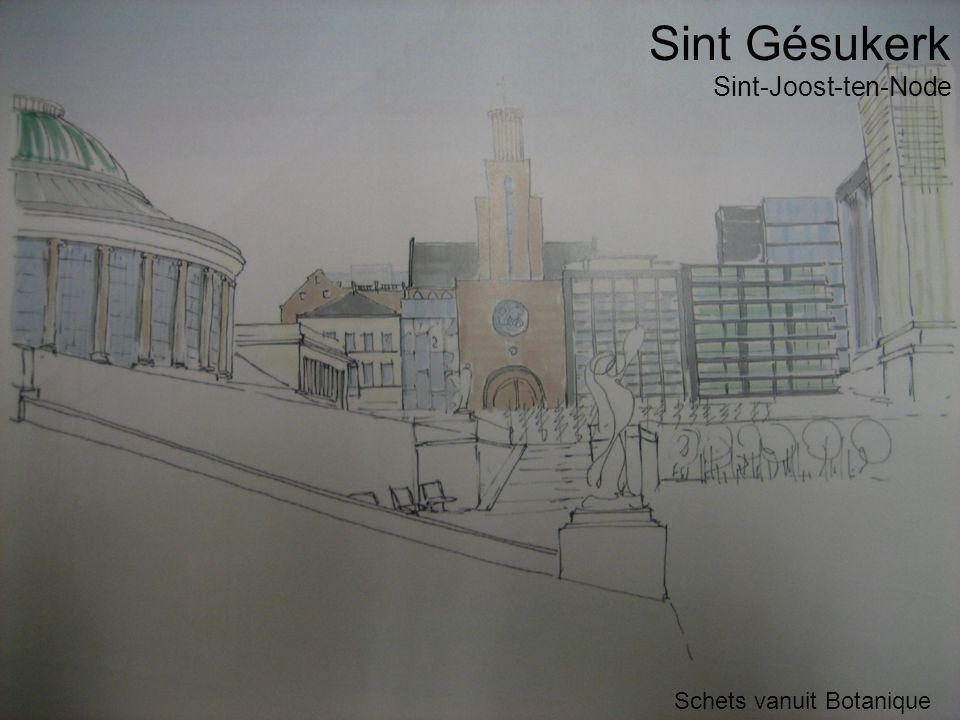 Sint Gésukerk Schets vanuit Botanique Sint-Joost-ten-Node