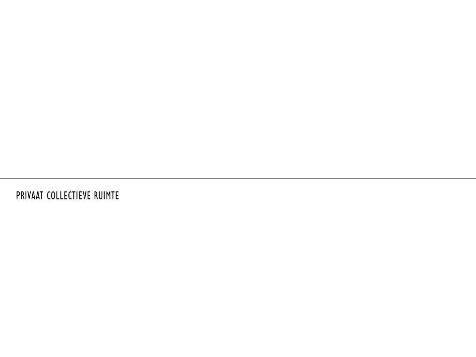 PUBLIEKE RUIMTEN IN EXTERIEUR - de stad BINNENSTEDELIJK PUBLIEK IN INTERIEUR - gebouwen PRIVAAT COLLECTIEF inhaalbeweging op gebied van culturele en recreatieve voorzieningen = verplaatsing van buiten naar binnen in de gebouwen