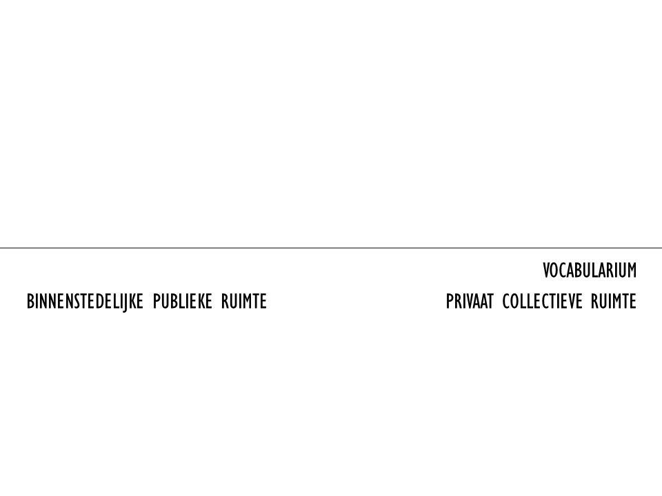 BINNENSTEDELIJKE PUBLIEKE RUIMTE PRIVAAT COLLECTIEVE RUIMTE VOCABULARIUM