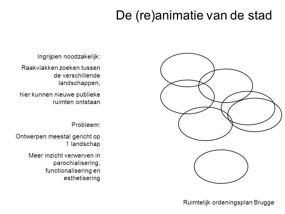 Ruimtelijk ordeningsplan Brugge Ingrijpen noodzakelijk: Raakvlakken zoeken tussen de verschillende landschappen, hier kunnen nieuwe publieke ruimten o
