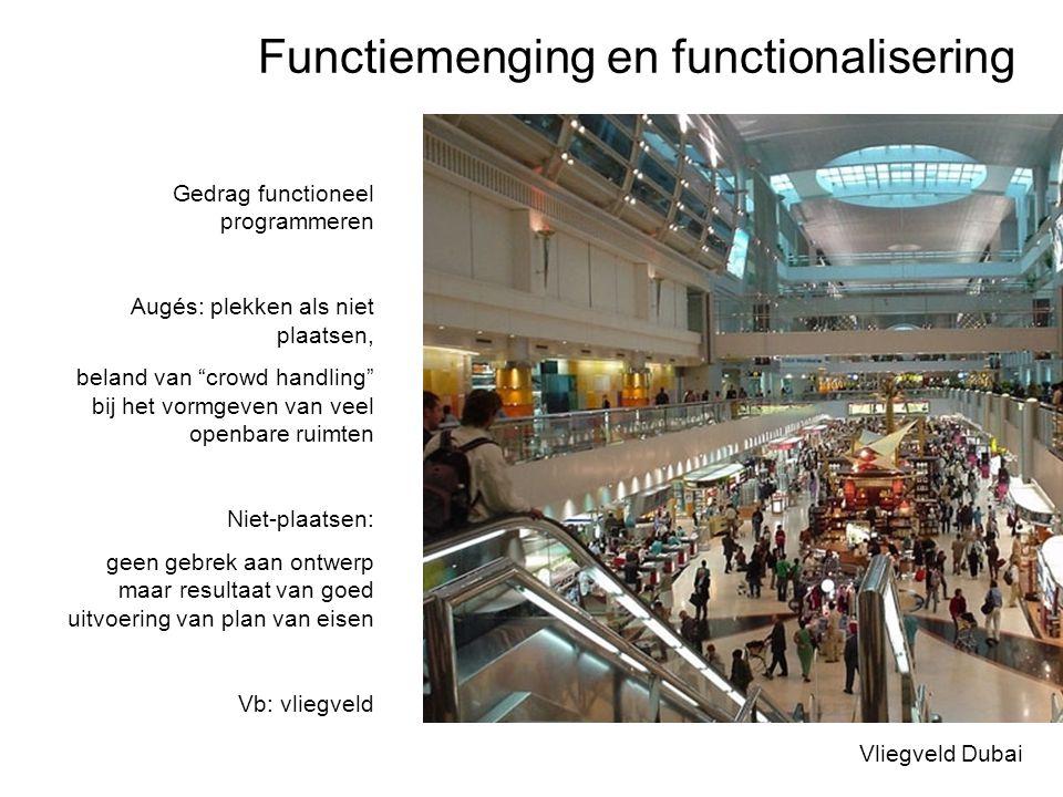 """Functiemenging en functionalisering Vliegveld Dubai Gedrag functioneel programmeren Augés: plekken als niet plaatsen, beland van """"crowd handling"""" bij"""