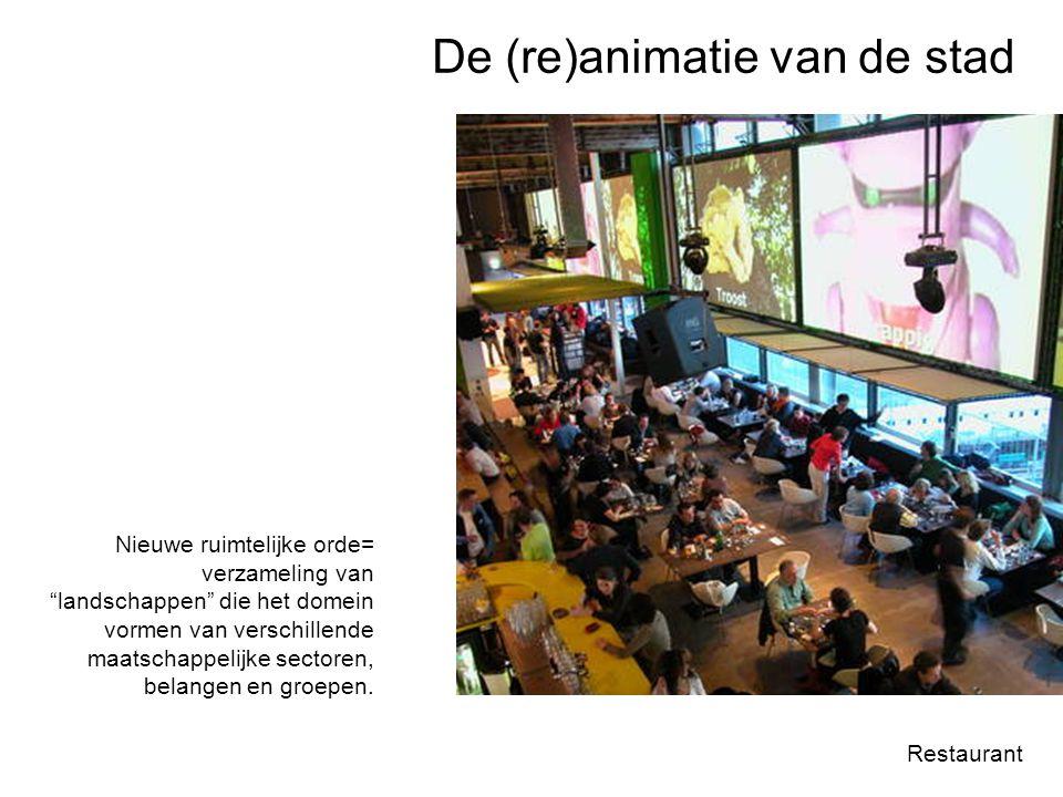 """Restaurant Nieuwe ruimtelijke orde= verzameling van """"landschappen"""" die het domein vormen van verschillende maatschappelijke sectoren, belangen en groe"""