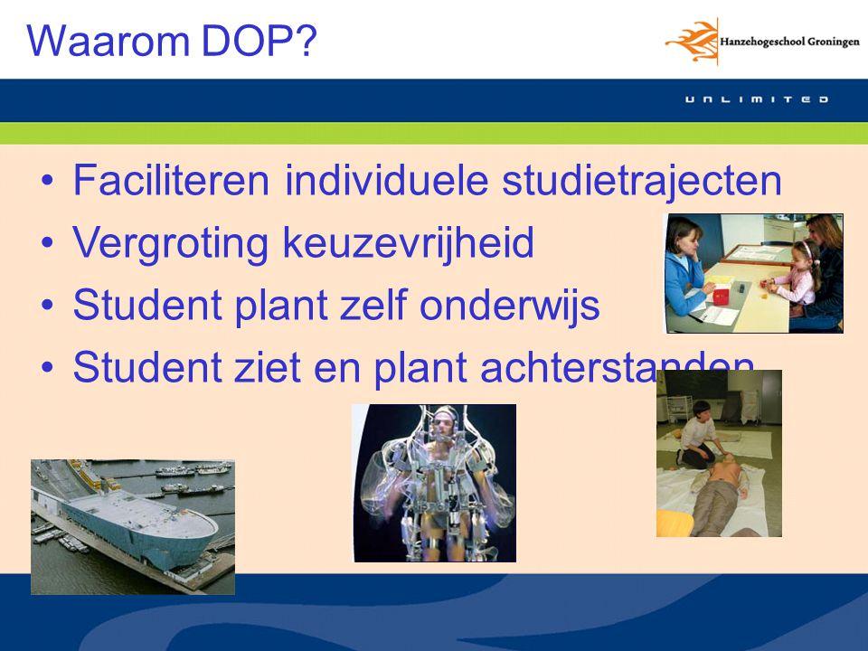 Functies DOP Oriëntatie op totaal onderwijsaanbod binnen HG Studie plannen Inschrijven