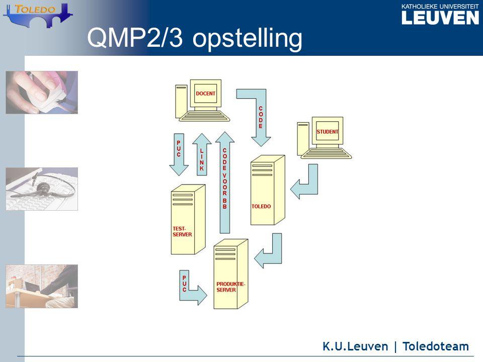 K.U.Leuven | Toledoteam QMP2/3 opstelling