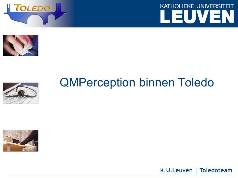 K.U.Leuven | Toledoteam QMPerception binnen Toledo