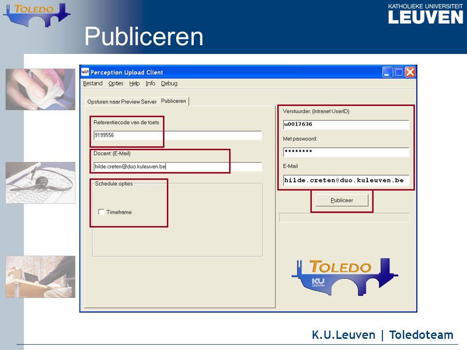 K.U.Leuven | Toledoteam Publiceren
