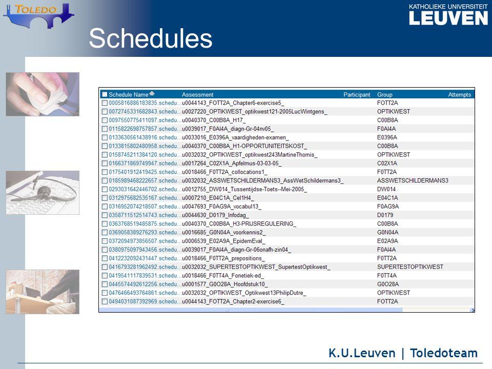 K.U.Leuven | Toledoteam Schedules