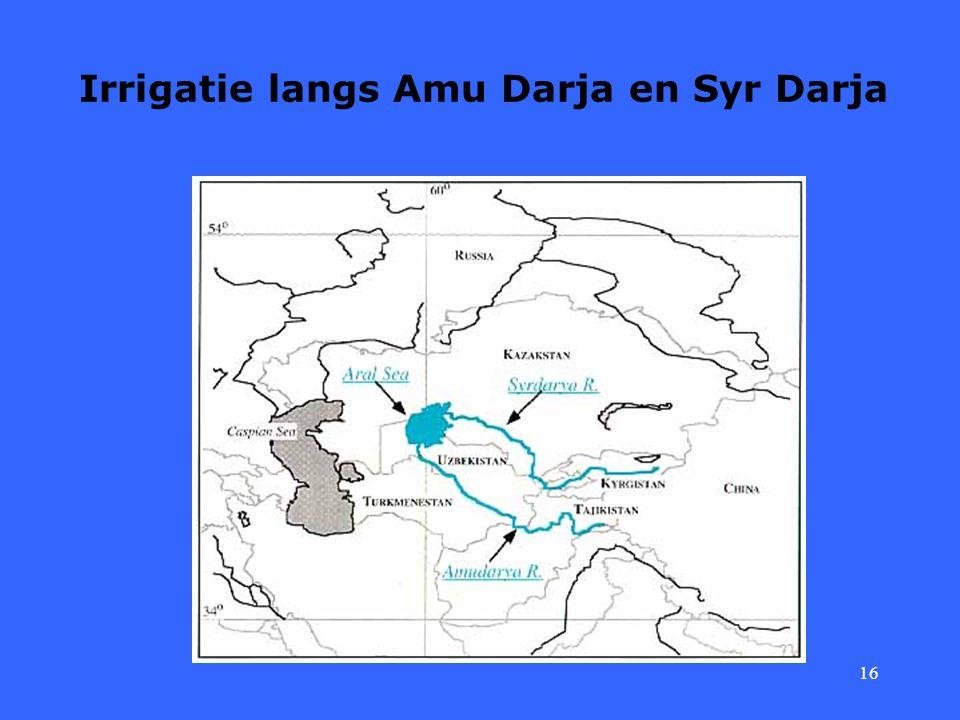 16 Irrigatie langs Amu Darja en Syr Darja