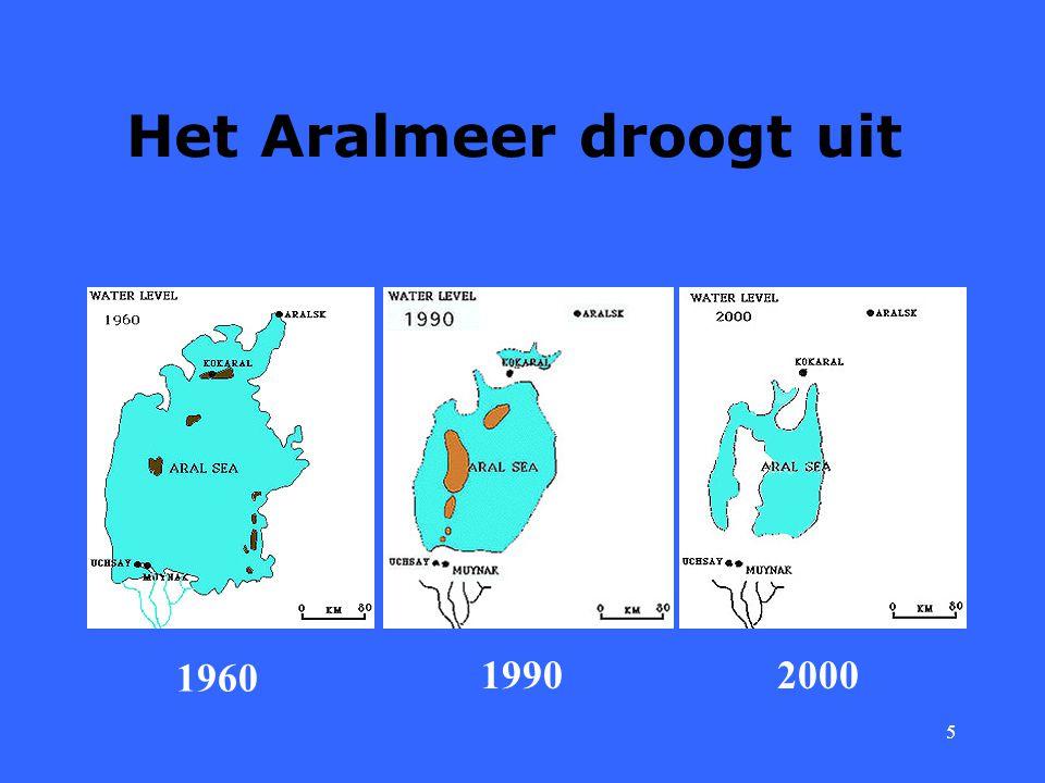 5 Het Aralmeer droogt uit 1960 20001990