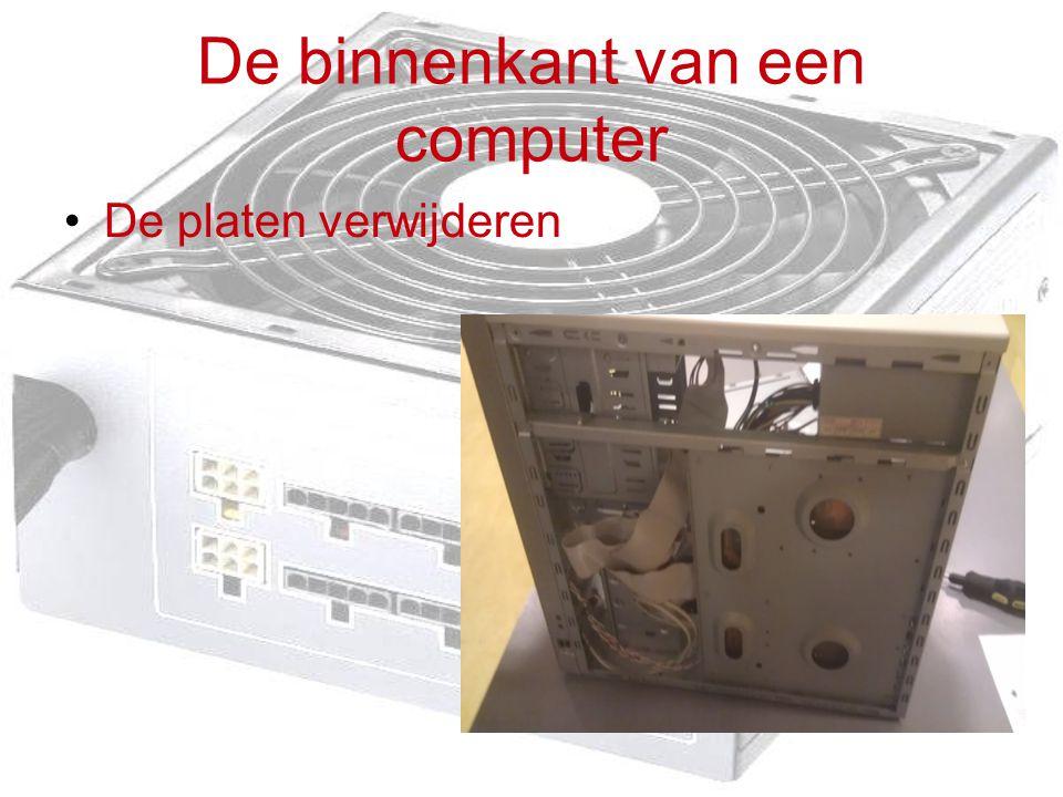 De binnenkant van een computer De platen verwijderen