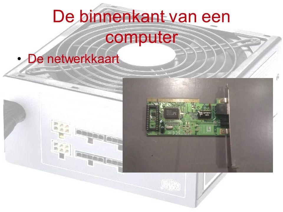 De binnenkant van een computer De netwerkkaart