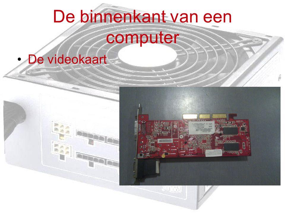 De binnenkant van een computer De videokaart