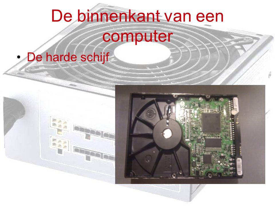 De binnenkant van een computer De harde schijf