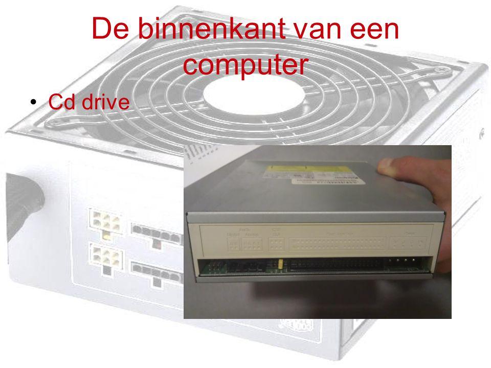 De binnenkant van een computer Cd drive