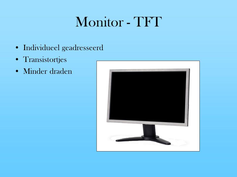 Monitor - TFT Individueel geadresseerd Transistortjes Minder draden