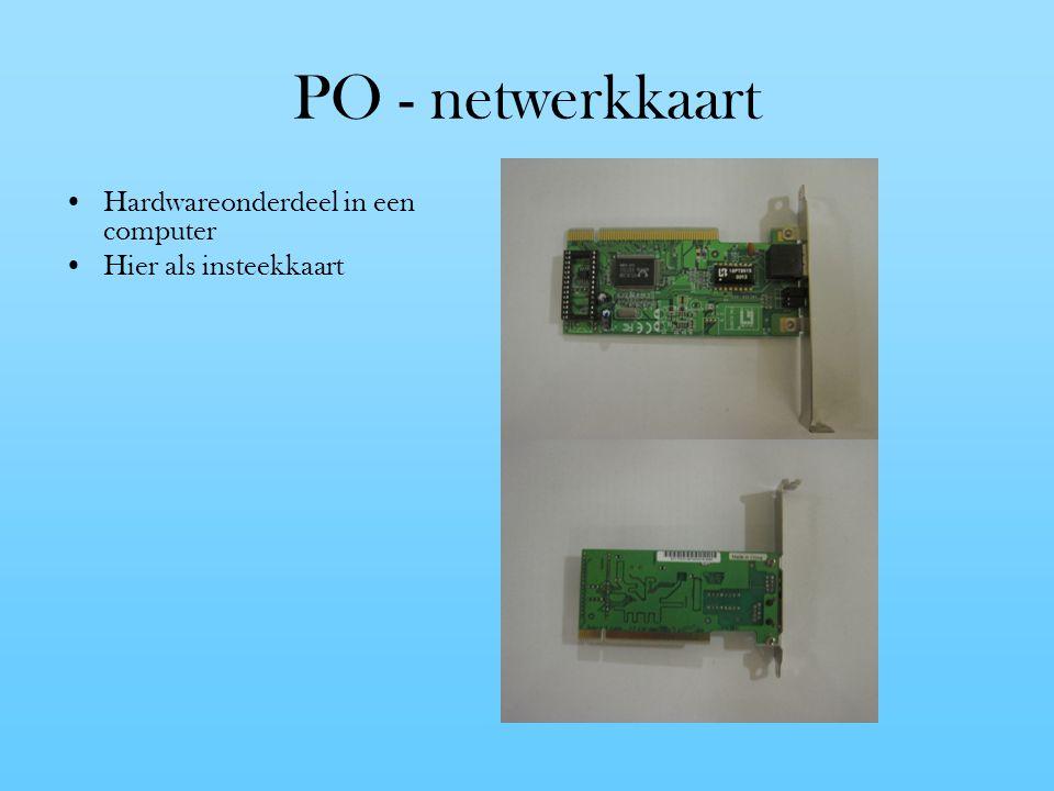 PO - netwerkkaart Hardwareonderdeel in een computer Hier als insteekkaart