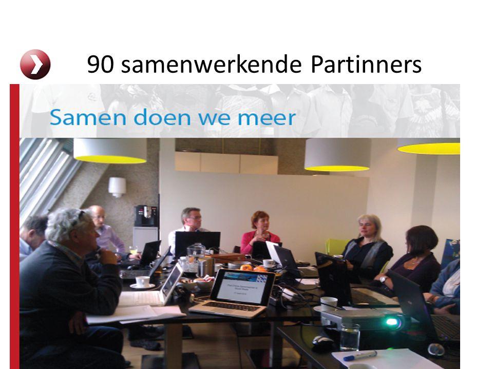 Samen kunnen we meer … 90 samenwerkende Partinners