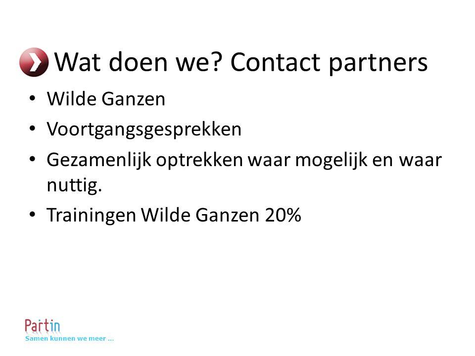 Samen kunnen we meer … Contact partners: NCDO Voortgangsgesprekken Gebruikersplatform MyWorld NCDO trainingen 20% korting Bekijk het trainingsaanbod (NCDO én WG) in de pauze : MyWorld stand - Adriaan Kauffman
