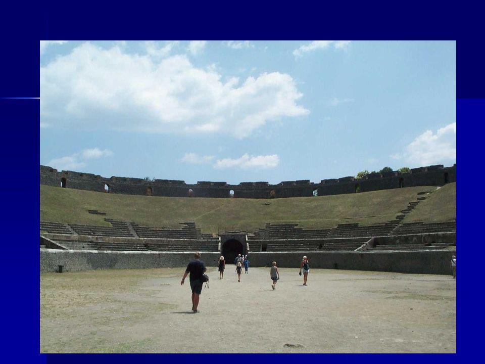 Amfitheaters in Rome Oudste stenen theater in Rome: Oudste stenen theater in Rome: Op het Marsveld (29 v.C.) maar werd vernietigd in de brand van Rome van 64 n.C.