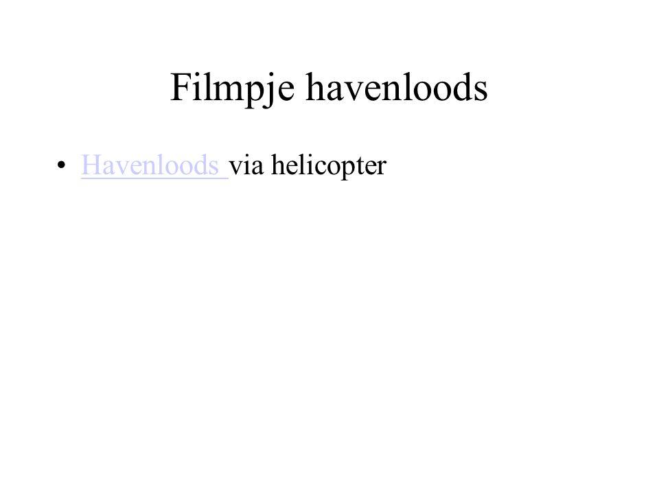 Filmpje havenloods Havenloods via helicopterHavenloods