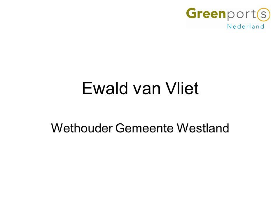 Ewald van Vliet Wethouder Gemeente Westland