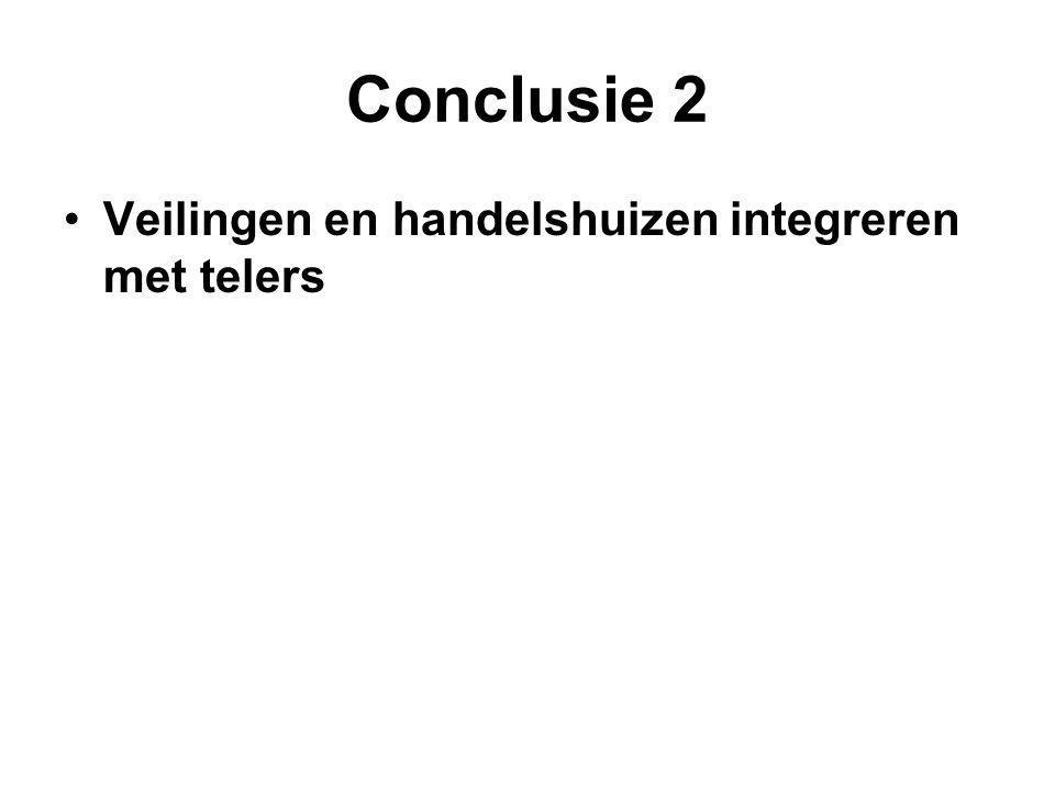 Conclusie 2 Veilingen en handelshuizen integreren met telers