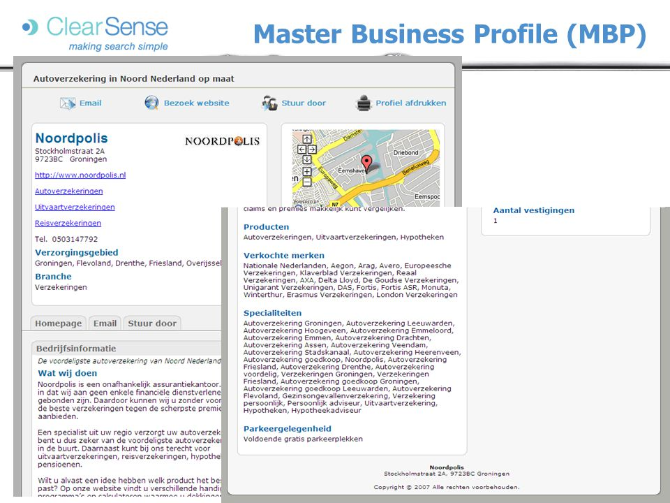 Master Business Profile (MBP)