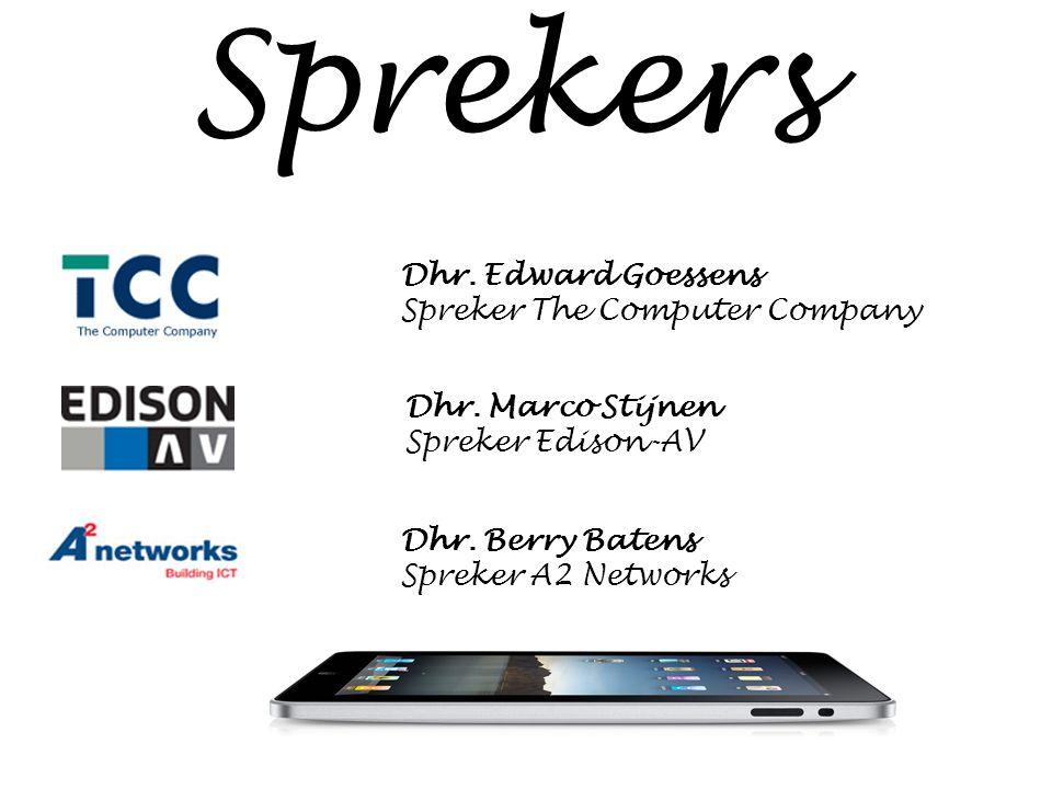 Dhr. Marco Stijnen Spreker Edison-AV Dhr.
