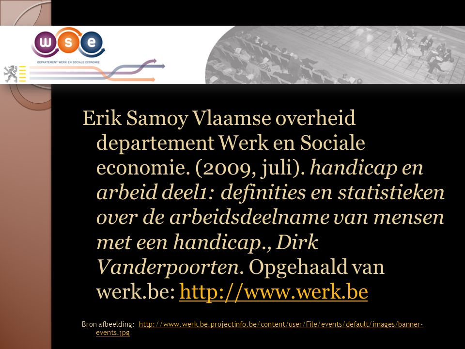 Erik Samoy Vlaamse overheid departement Werk en Sociale economie.