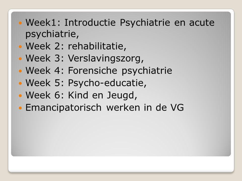 Hulpverlenen binnen de psychiatrie en VG HBOV-Leeuwarden januari 2010