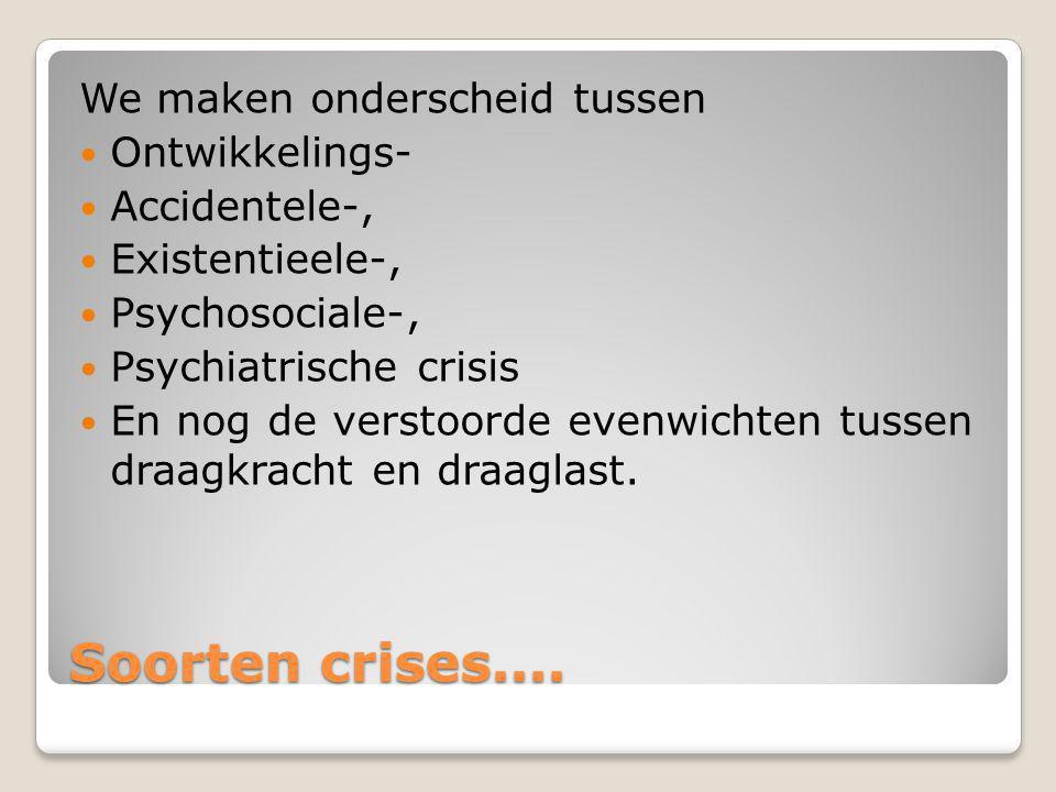 Stadia in een crisissituatie Zo eenvoudig is de werkelijkheid niet. We kennen vaak nog 0-fasen waarin ernstige vermoeidheid, achterdocht, geirriteerdh