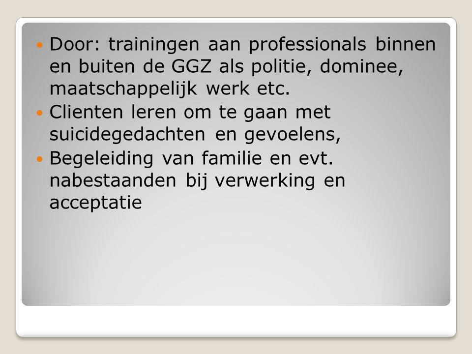 De weekkrant Fryslan januari 2010: Suicidepreventie GGZ Friesland bij de beste drie van Nederland (Trimbosinstituut- onderzoek)...hoe doen die Friezen