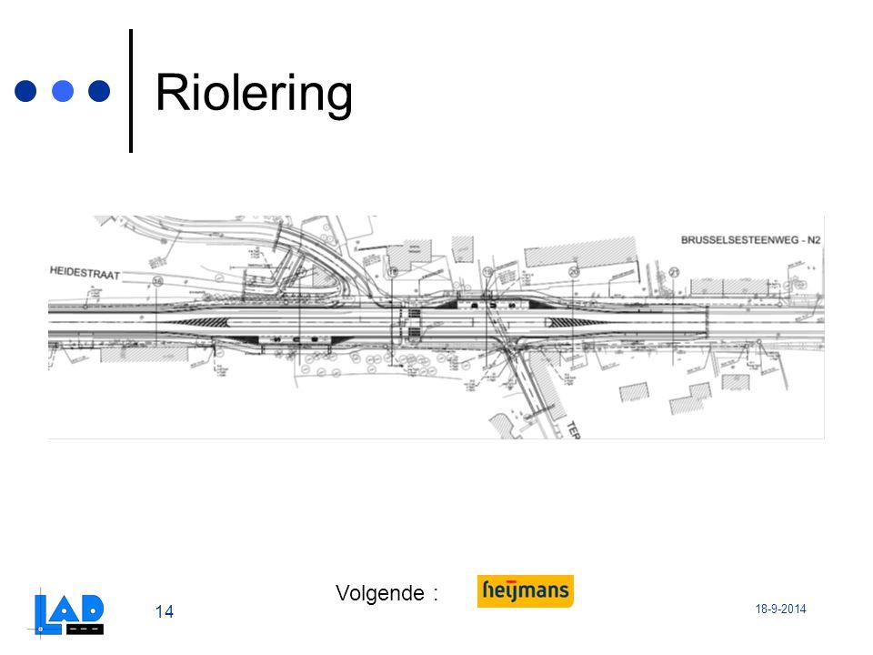 18-9-2014 14 Riolering Volgende :