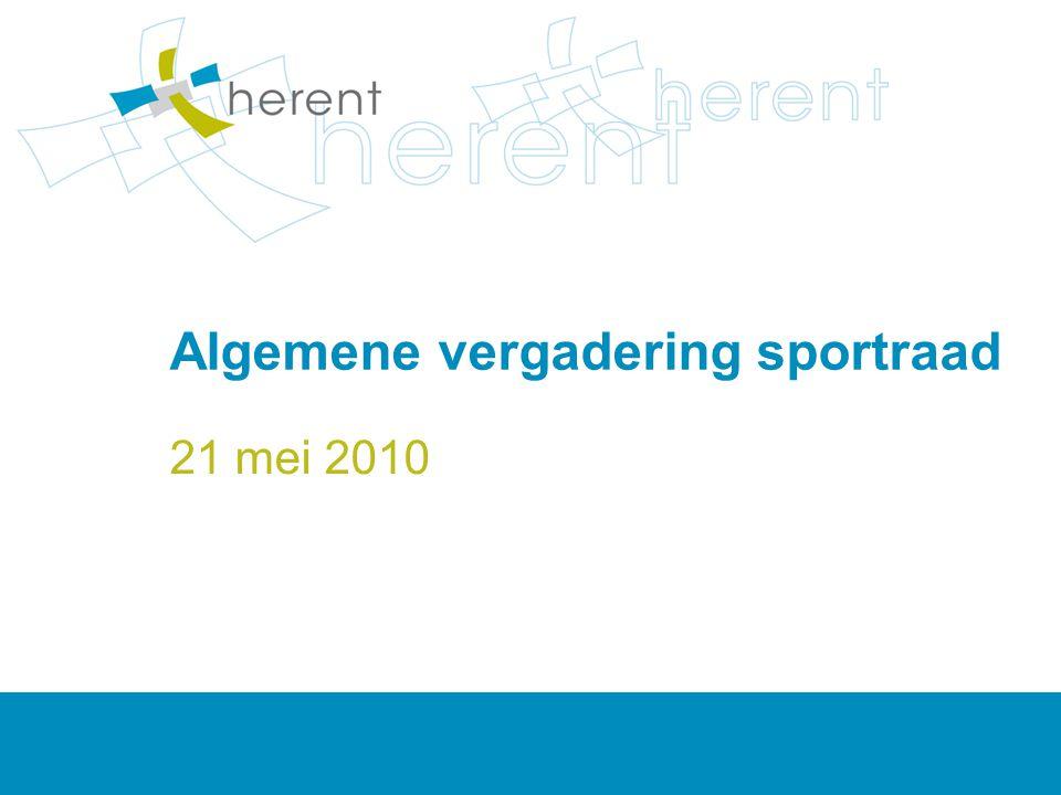 Algemene vergadering sportraad 21 mei 2010