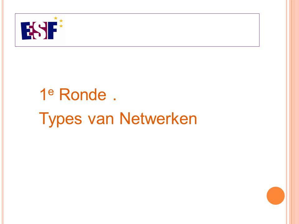 1 e Ronde. Types van Netwerken