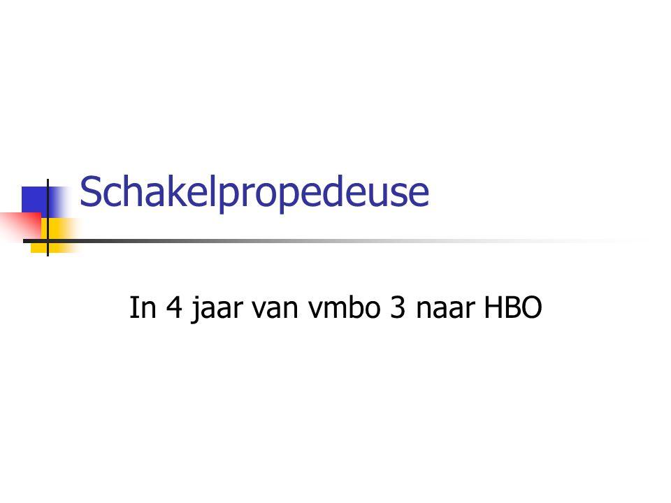 Schakelpropedeuse In 4 jaar van vmbo 3 naar HBO