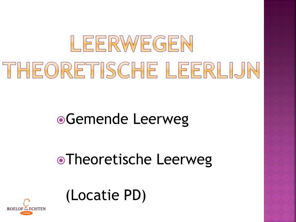  Gemende Leerweg  Theoretische Leerweg (Locatie PD)