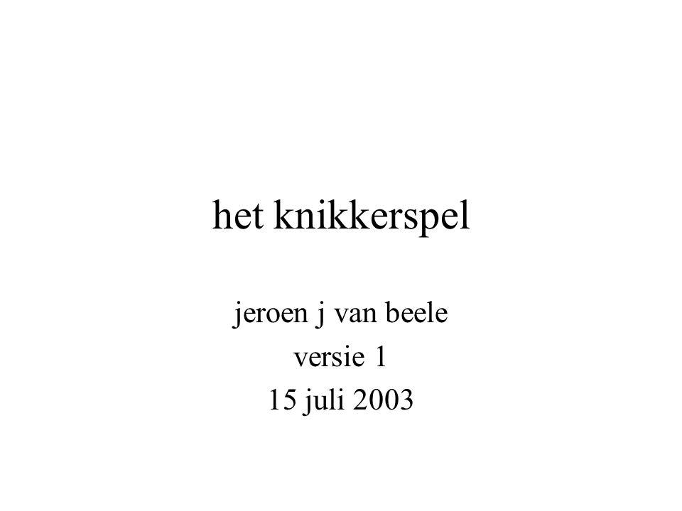 het knikkerspel jeroen j van beele versie 1 15 juli 2003