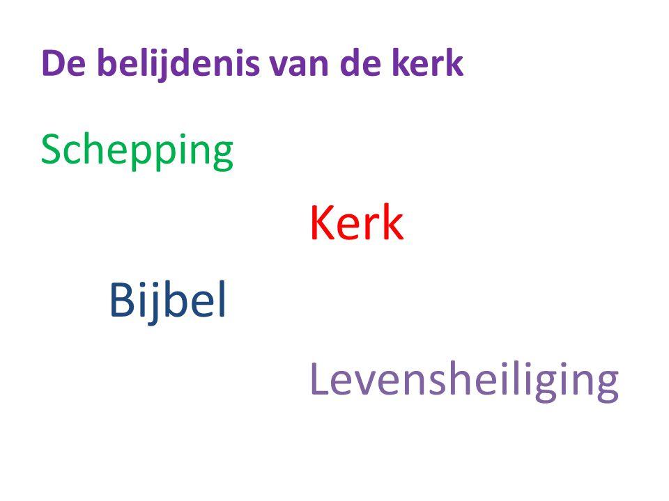 Schepping Kerk Bijbel Levensheiliging