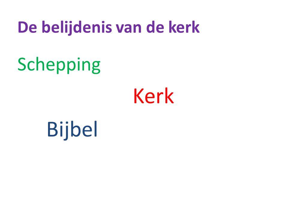 De belijdenis van de kerk Schepping Kerk Bijbel Levensheiliging