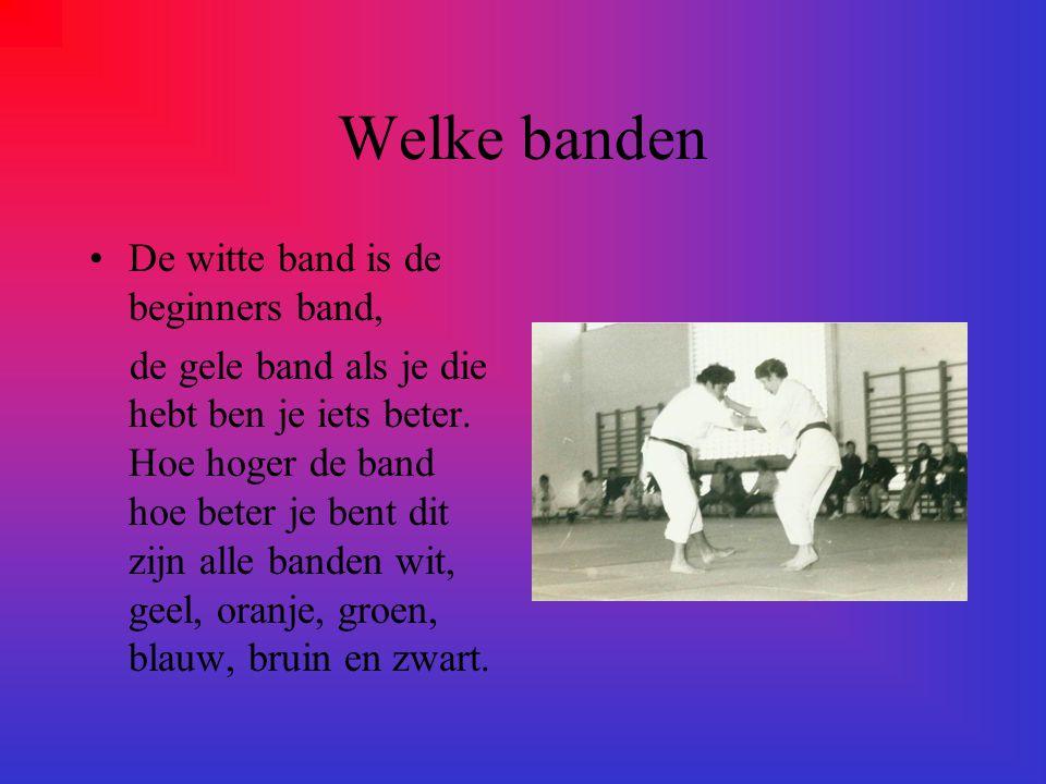 Welke banden De witte band is de beginners band, de gele band als je die hebt ben je iets beter.