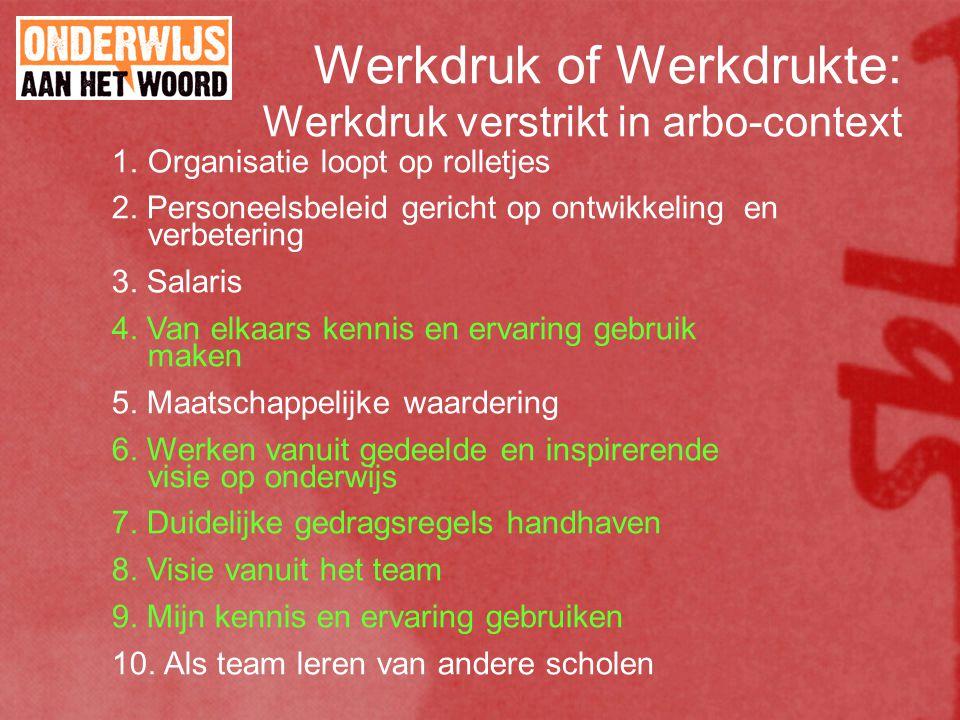 Werkdruk of Werkdrukte: Werkdruk verstrikt in arbo-context 1.