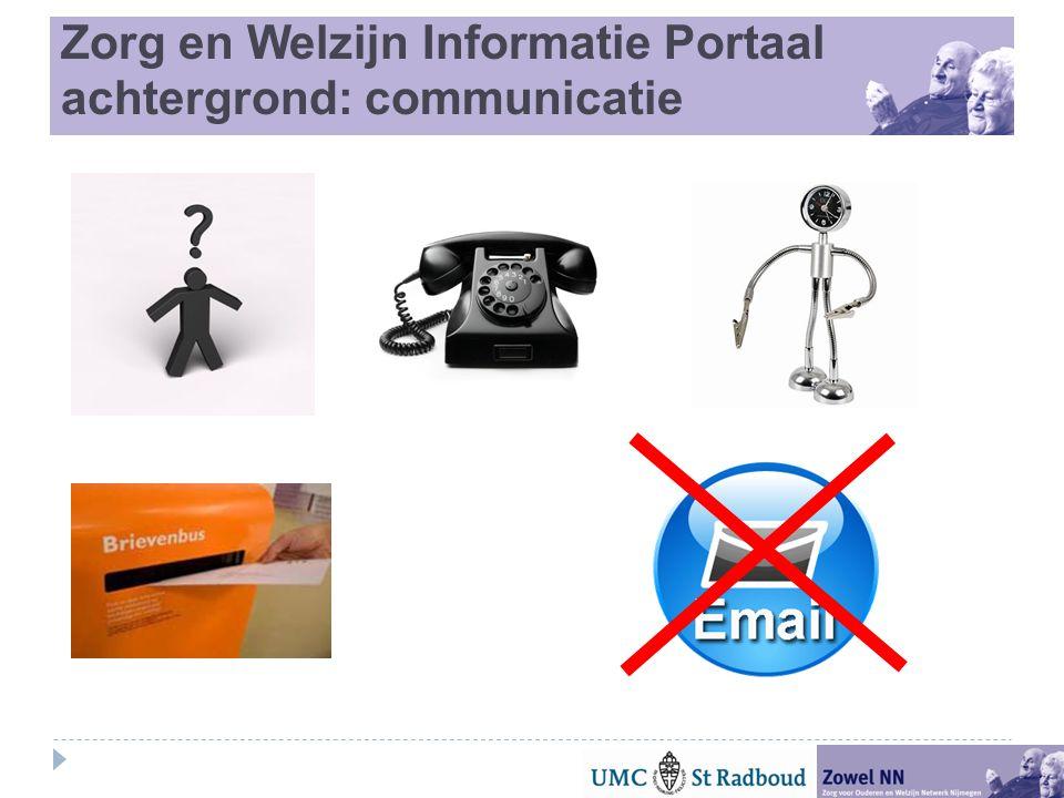 Zorg en Welzijn Informatie Portaal achtergrond: communicatie