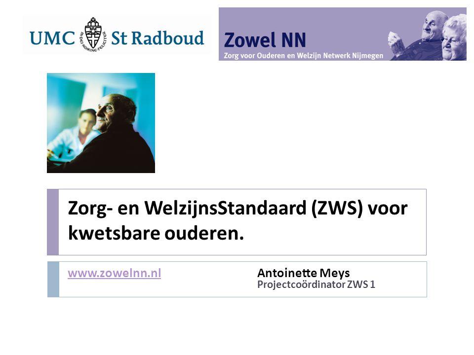 Zorg- en WelzijnsStandaard (ZWS) voor kwetsbare ouderen.