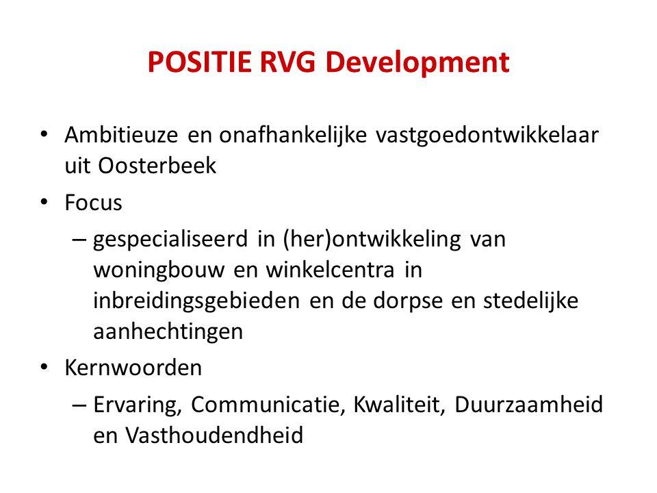 POSITIE RVG Development Ambitieuze en onafhankelijke vastgoedontwikkelaar uit Oosterbeek Focus – gespecialiseerd in (her)ontwikkeling van woningbouw e